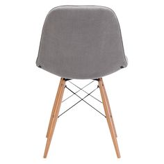 Zuo Modern Probability Dining Chair in Gray, Sweet velour seat, Modern meets mod in the shape and metal crossing at the legs, Velour polyblend and wood materials, 250 lbs. Unique Home Decor, Home Decor Items, Cheap Dining Sets, Modern Dining Chairs, Kitchen Chairs, Grey Chair, Modern Furniture, Wood, Gray Green