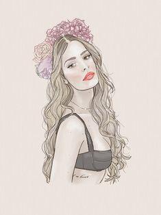Portrait fashion illustration of Yasmin Brunet by verusveteris Fashion Illustrations, Character Inspiration, Disney Characters, Fictional Characters, Aurora Sleeping Beauty, Portrait, Disney Princess, My Style, Art