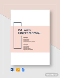 Impress potential investors and sponsors with a well-written software project proposal to bring your brilliant ideas to life. Project Proposal Example, Project Proposal Template, Business Proposal Template, Proposal Templates, Word Template Design, Word Design, Cover Page Template Word, Word Templates, Mise En Page Word