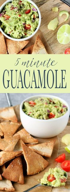 Super Simple 5-Minute Guacamole is easy to make, requiring 6 basic ingredients and 1-bowl. Creamy mashed avocado combined with lemon and lime citrus juice, tomato, onion and a bit of jalapeño for a bit of heat.