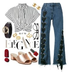 """Bez tytułu #94"" by magicofashion ❤ liked on Polyvore featuring Marques'Almeida, Raye, T By Alexander Wang, Gucci, Chanel, Madina Visconti di Modrone, Cartier, Soave Oro and OPI"