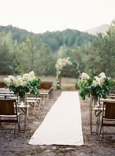 Outdoor Wedding | Aisle Runner | See more of this wedding on SMP | lhttp://www.stylemepretty.com/2013/05/23/vermont-wedding-from-jose-villa/ Photography: Jose Villa