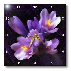 3drose Purple Flowers Wall Clock, 10 by 10-Inch 3dRose http://www.amazon.com/dp/B0036723Z4/ref=cm_sw_r_pi_dp_OWePub0BEH0DN