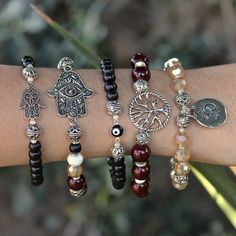 DIY Earthen Bracelets made with #BeadGallery beads available at @michaelsstores #madewithmichaels