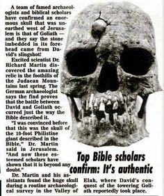 goliaths skull found