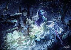 Corpse bride fan art, Tim Burton