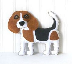 Beagle Sewing Pattern Dog Hand Sewing by LittleSoftieShoppe