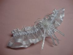 Garter organza ribbon garter Wedding/Prom garter by Hoalanebridal, $10.00 #weddings #brides #prom