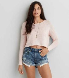 AEO Feather Light Cropped Sweater - Buy One Get One 50% Off