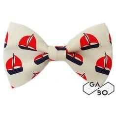 Gravata Borboleta Navy Barco