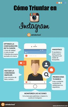 Cómo triunfar en Instagram #infografia #infographic #socialmedia