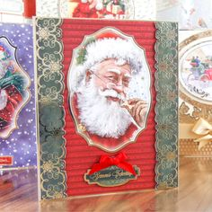 Hunkydory Christmas Traditions die cut toppers & card - Santa Claus