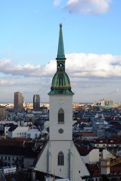 Love for Bratislava- Slovakia Great Places, Places To See, Bratislava Slovakia, Danube River, Architecture Old, Empire State Building, Castles, Spaces, History