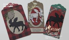 Diane Evans Merry Moose Stampin' Up! Christmas Moose, Christmas Animals, Christmas Holiday, Holiday Crafts, Fun Crafts, Paper Crafts, Homemade Christmas Cards, Christmas Gift Tags, Homemade Gift Tags