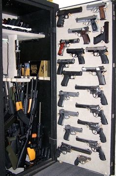 I want a gun safe like this... - Charley, it's about time we get a safe like this one!! lol!