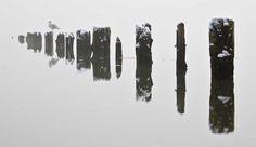 Juneau: Sandy Beach pilings in the fog