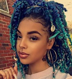 56 Dope Box Braids Hairstyles to Try - Hairstyles Trends Box Braids Hairstyles, Protective Hairstyles, Cute Hairstyles, Curly Hair Styles, Natural Hair Styles, Dreads, Blue Hair, Hair Hacks, Hair Trends