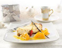 Spekulatius-Cheesecake mit Mandarinen-Chili-Kompott