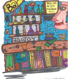 """Enjoy""   © & ℗ produced byBeVag™ #byBeVaG #artenaive #naiveart   #bybevag #arteingenuo #naiveart #hechoenvenezuela #tintachina #wache #madeinvenezuela"
