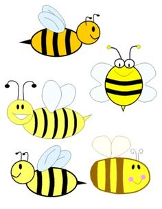 Bee clipart for personal or commercial use.