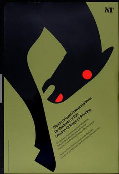 poster by Tom Eckersley (1981) Modern Graphic Design, Graphic Design Posters, Graphic Design Illustration, Graphic Art, Poster Designs, Retro Design, Digital Illustration, Festival Posters, Art Festival