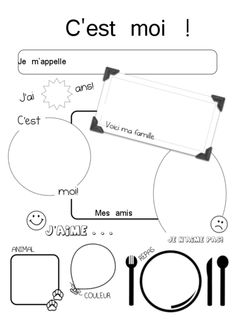 Madame Belle Feuille: Social Studies - Mon monde et moi, unit 1 French Teaching Resources, Teaching French, Teaching Spanish, Spanish Activities, French Worksheets, First Day Of School Activities, French Education, Core French, French Classroom