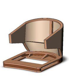 3d модель каркаса кресла