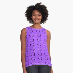 Chiffon, Printed, Awesome, Fitness, Fabric, Fashion Design, Black, Tops, Art