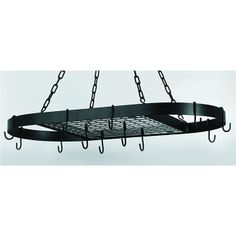 Old Dutch presents the Old Dutch Hanging Oval Pot Rack with 12 Hooks. This Old Dutch ceiling mounted Light Weight Oval Pot Rack provides plentiful hanging space for your cookware, with a shelf for extra storage. Pot Rack Hanging, Hanging Pots, Hanging Storage, Kitchen Redo, Kitchen Storage, Kitchen Ideas, Kitchen Island Pot Rack, Kitchen Remodel, Dutch Kitchen