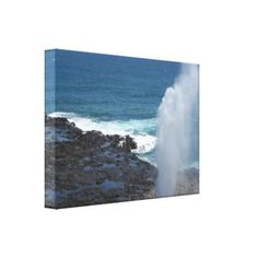 Spouting Horn, Kauai, canvas print... $98.25
