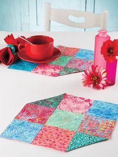 Quilting - Quick & Easy Patterns - Kitchen Patterns - Too Charming Place Mats