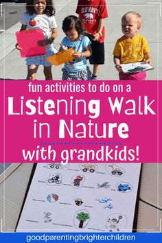 Here are 8 amazingly fun nature activities for grandkids and grandparents. Sensory play with rocks, mud, water and sticks, listening walks in nature, making edible glaciers in the kitchen, science fizzy stars, rainbow collages and more. #grandma #grandparents #grandchildren #activitiesfor #dayactivities #daycrafts #howtobethebest #mykidshavethebest #naturestudy #nature Nature Activities, Outdoor Activities For Kids, Fun Activities For Kids, Crafts With Pictures, Nature Study, Walking In Nature, Toddler Preschool, Read Aloud, Outdoor Fun