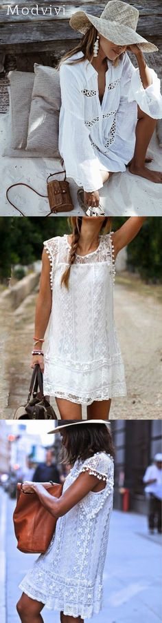 Hot Sell> Boho Mini Beach Dresses for Your Summer Holiday Beach Dresses, Boho Outfits, Dress For You, Lace Skirt, Vacation, Mini, Womens Fashion, Holiday, Skirts