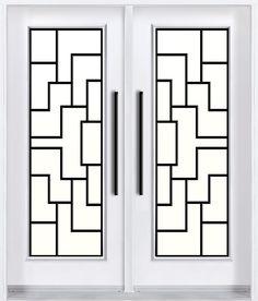 Contemporary wrought iron door design