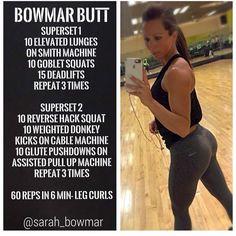 Sarah Bowmar booty workout