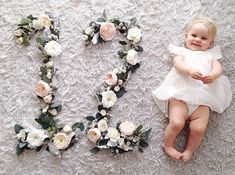 baby months floral photo http://instagram.com/jl_designs/