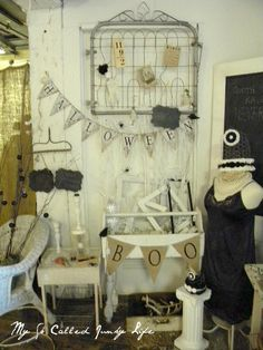 Antique Booth - October by mysocalledjunkylife, via Flickr