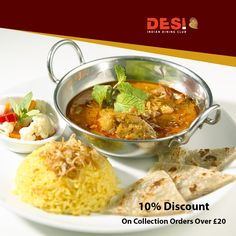 Desi Indian Restaurant is an Indian Restaurant and Takeaway in Grays RM17. Located in the heart of Romford, Desi Indian Restaurant offers fresh Indian food and fast service for delivery & collection. Order takeaway food and book a table online from Desi Indian Restaurant through ChefOnline in just a few clicks. Just browse the menu, Pick your favourite food items and proceed to the checkout. Pay via cash or card. Dining Club, Restaurant Order, Indian Food Recipes, Ethnic Recipes, Food Items, Bengal, A Table, Desi