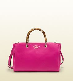 Gucci Bamboo Shopper - golden tan leather. Or Pink. Or Purple.