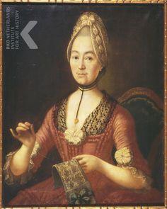 Anonymous: Portrait of a lady, doing needlework Collectie(s) Museum Hilversum, Hilversum , inv./cat.nr 270004