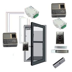 145.00$  Buy here - http://alic0p.worldwells.pw/go.php?t=32243097791 - TCP/IP Fingerprint Access Control Kit With Power Supply & Magnetic Lock , Infrared switch