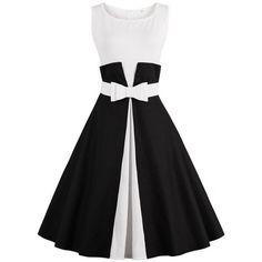 Vestido vintage negro y blanco