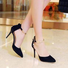 stiletto heels and broken bottles Fancy Shoes, Cute Shoes, Women's Shoes, Stiletto Heels, High Heels, Kawaii Shoes, Ankle Strap Heels, Ankle Straps, Fashion Heels