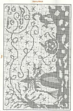 Cross Stitch Pattern - Starry Witch - no colors specified