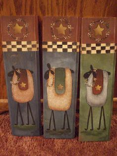 Folk art sheep at Tolen Treasures