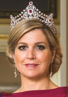 royalsandquotes:  Queen Maxima in the Mellerio Ruby Tiara
