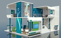 Supreme Council of Health Stand Design by Rizmy Jiffry, via Behance
