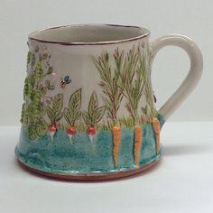 "Stacey Manser-Knight (@staceypumpkin) on Instagram: ""Growing the Veg' , Large sturdy mug. As it is mugshot monday . #mugshotmonday #ceramics #cerámica…"""