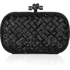 Bottega Veneta Embellished intrecciato leather knot clutch
