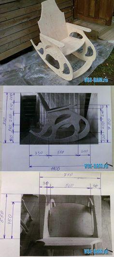 Кресло-качалка из фанеры » VSE-SAM.ru - Сделай сам своими руками поделки, самоделки